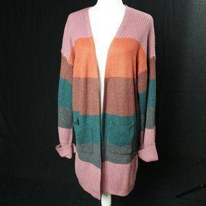 Reborn J | Stripped Sweater Cardigan | Sz L